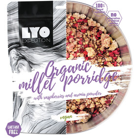 Lyofood Organic Millet Porridge Raspberries/Aronia Powder Double Size 184g